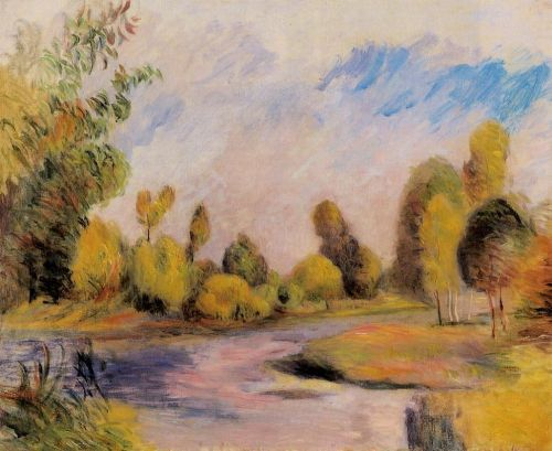 Banks of a River by Pierre-Auguste Renoir