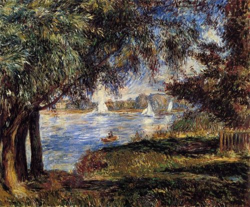 Bougival, 1888 by Pierre-Auguste Renoir