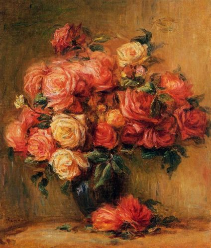 Bouquet of Roses, 1890-1900 by Pierre-Auguste Renoir