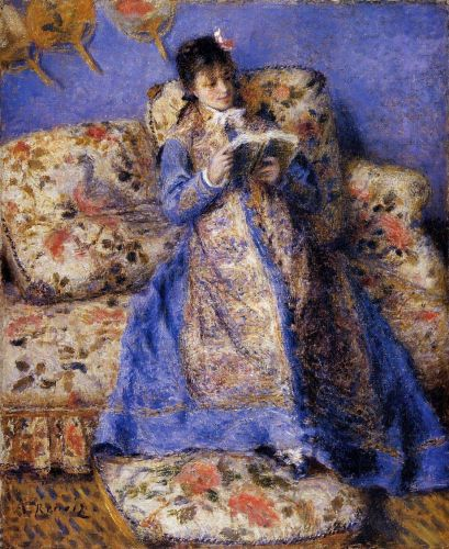 Camille Monet Reading, 1872 by Pierre-Auguste Renoir