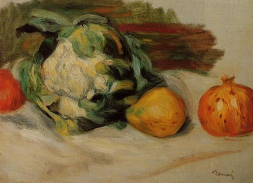 Cauliflower and Pomegranates, 1890 by Pierre-Auguste Renoir