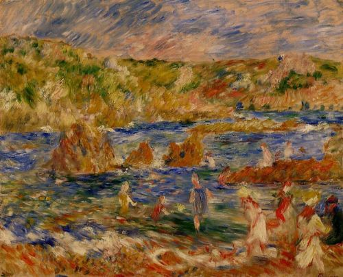 Children on the Beach at Guernsey, 1883 by Pierre-Auguste Renoir