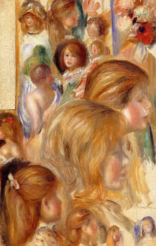 Children's Heads by Pierre-Auguste Renoir