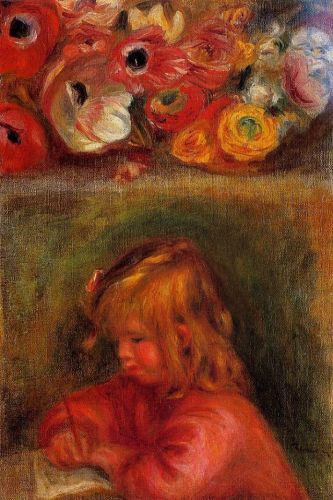 Coco and Flowers, 1905 by Pierre-Auguste Renoir