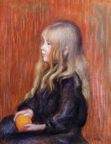 Coco Holding a Orange, 1904 by Pierre-Auguste Renoir