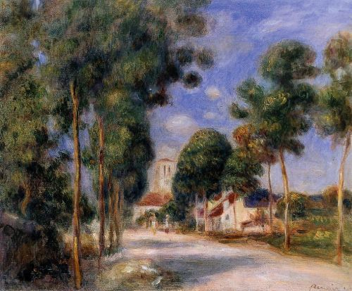 Entering the Village of Essoyes, 1901 by Pierre-Auguste Renoir