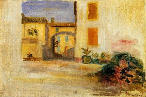 Farm Courtyard, Midday by Pierre-Auguste Renoir