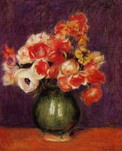 Flowers in a Vase, 1901 by Pierre-Auguste Renoir