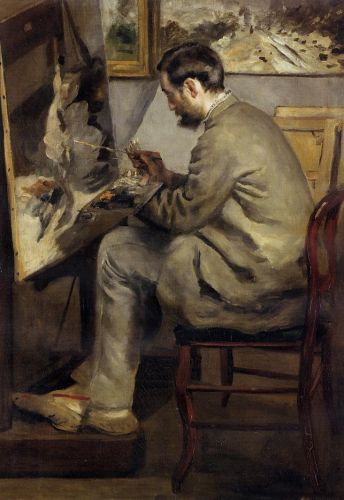 Frederic Bazille Painting 'The Heron', 1867 by Pierre-Auguste Renoir