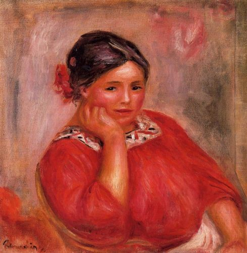 Gabrielle in a Red Blouse, 1896 by Pierre-Auguste Renoir
