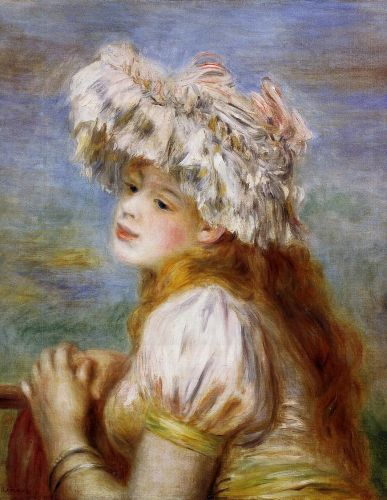 Girl in a Lace Hat, 1891 by Pierre-Auguste Renoir