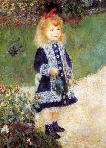 Girl with a Watering Can, 1876 by Pierre-Auguste Renoir