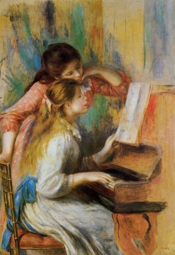 Girls at the Piano, 1892 by Pierre-Auguste Renoir