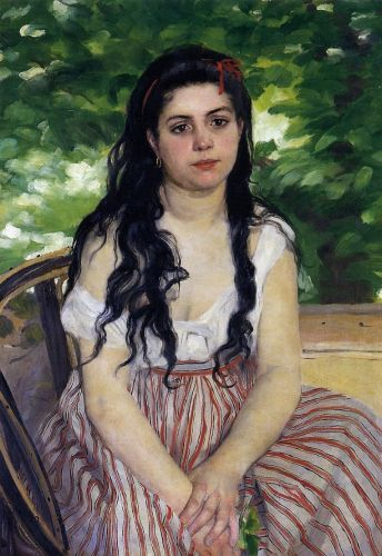 Gypsy Girl (Summer), 1868 by Pierre-Auguste Renoir