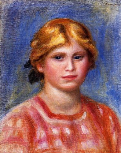 Head of a Young Girl, 1905 by Pierre-Auguste Renoir