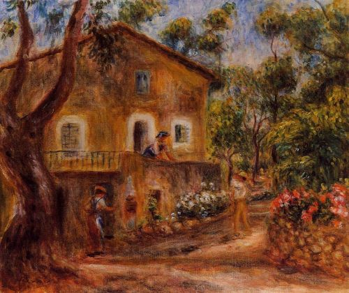 House in Collett at Cagnes, 1912 by Pierre-Auguste Renoir