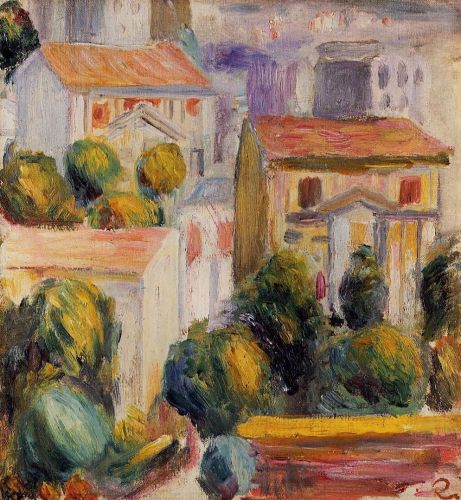 Houses at Cagnes by Pierre-Auguste Renoir