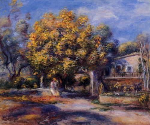 Houses at Cagnes, 1905 by Pierre-Auguste Renoir