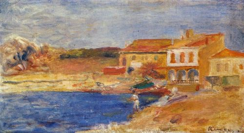 Houses by the Sea, 1912 by Pierre-Auguste Renoir