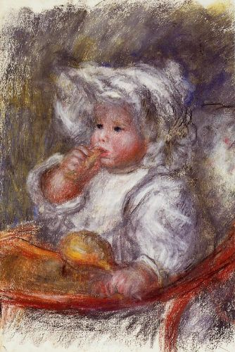 Jean Renoir in a Chair (Child with a Biscuit), 1895 by Pierre-Auguste Renoir