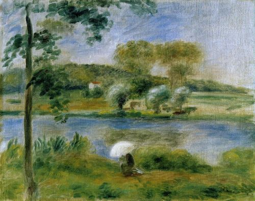 Banks of the River by Pierre-Auguste Renoir