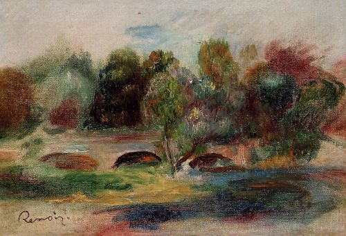 Landscape with Bridge, 1900 by Pierre-Auguste Renoir