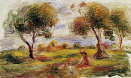 Landscape with Figures at Cagnes, 1916 by Pierre-Auguste Renoir