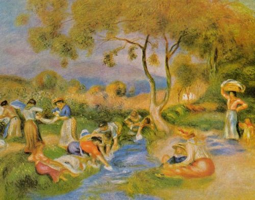 Laundresses at Cagnes, 1912 by Pierre-Auguste Renoir