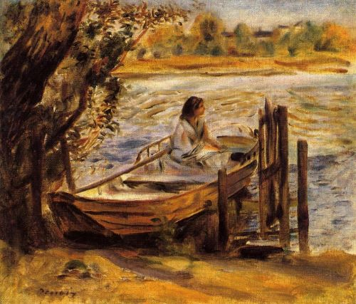 Lise Trehot (Young Woman in a Boat), 1870 by Pierre-Auguste Renoir