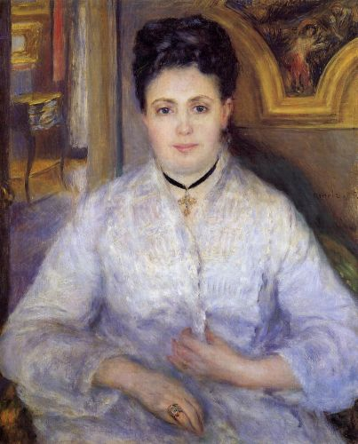 Madame Chocquet, 1875 by Pierre-Auguste Renoir