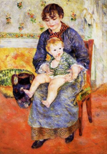Mother and Child, 1881 by Pierre-Auguste Renoir