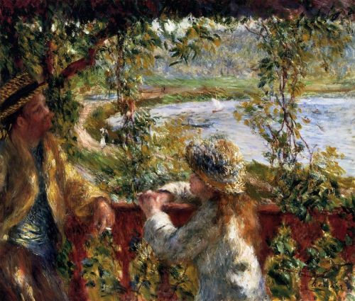 Near the Lake, 1879-1880 by Pierre-Auguste Renoir