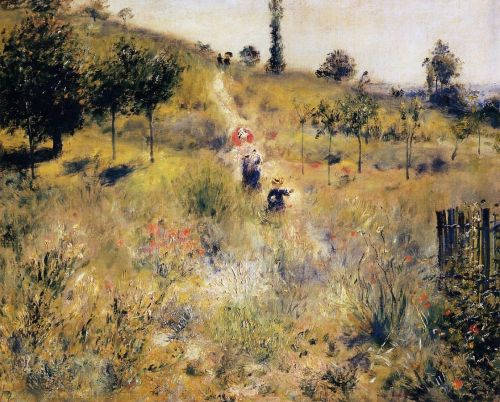Path Leading through Tall Grass, 1876-1877 by Pierre-Auguste Renoir