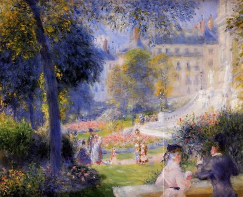 Place de la Trinite, Paris, 1875 by Pierre-Auguste Renoir