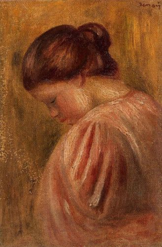 Portrait of a Girl in Red, 1883 by Pierre-Auguste Renoir