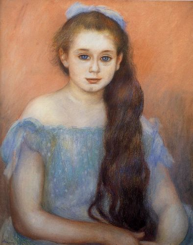 Portrait of a Young Girl, 1887 by Pierre-Auguste Renoir