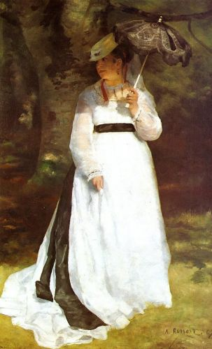 Portrait of Lise with Umbrella, 1867 by Pierre-Auguste Renoir