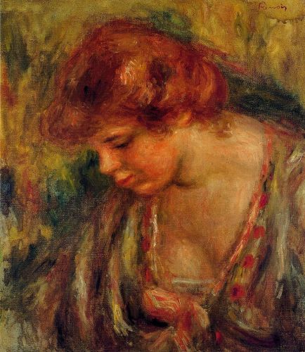 Profile of Andre Leaning Over, 1917 by Pierre-Auguste Renoir