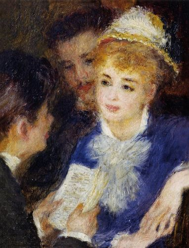 Reading the Part, 1874-1876 by Pierre-Auguste Renoir