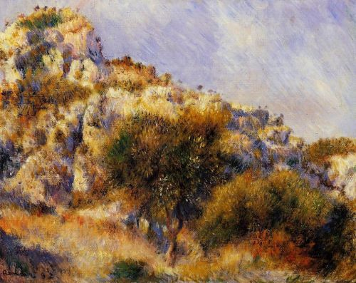 Rocks at l'Estaque, 1882 by Pierre-Auguste Renoir