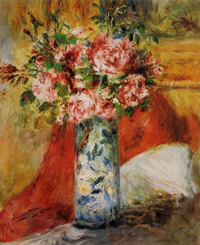 Roses in a Vase, 1876 by Pierre-Auguste Renoir
