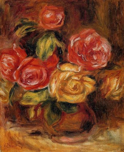Roses in a Vase, 1895 by Pierre-Auguste Renoir