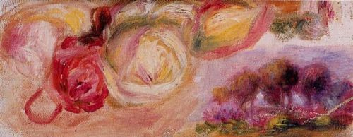 Roses with a Landscape, 1912 by Pierre-Auguste Renoir