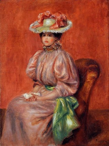 Seated Woman, 1895 by Pierre-Auguste Renoir