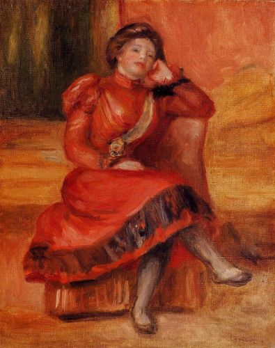 Spanish Dancer in a Red Dress, 1896 by Pierre-Auguste Renoir