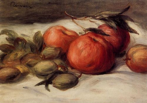 Still Life with Apples and Almonds by Pierre-Auguste Renoir