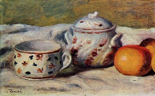 Still Life with Cup and Sugar Bowl, 1904 by Pierre-Auguste Renoir