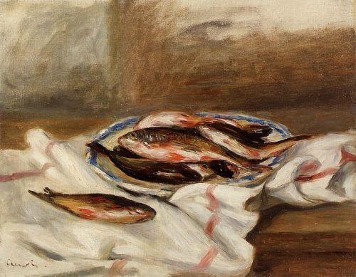 Still Life with Fish, 1890 by Pierre-Auguste Renoir