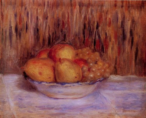 Still Life with Pears and Grapes by Pierre-Auguste Renoir