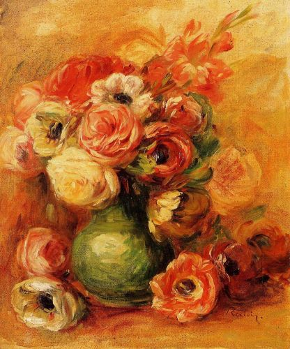 Still Life with Roses, 1910 by Pierre-Auguste Renoir